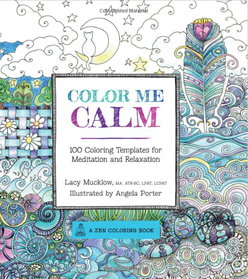 Art therapist Lacy Mucklow and artist Angela Porter offer up 100 coloring templates all designed to help you get coloring and get relaxed. Click to purchase on Amazon now!