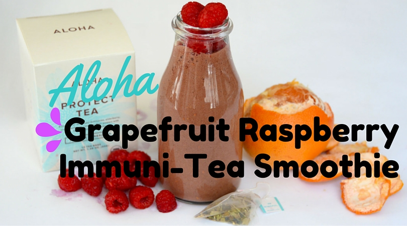Grapefruit Raspberry Immuni-Tea Smoothie