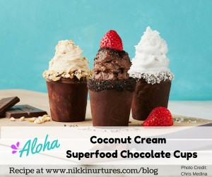 Coconut Cream Superfood Chocolate Cups Recipe