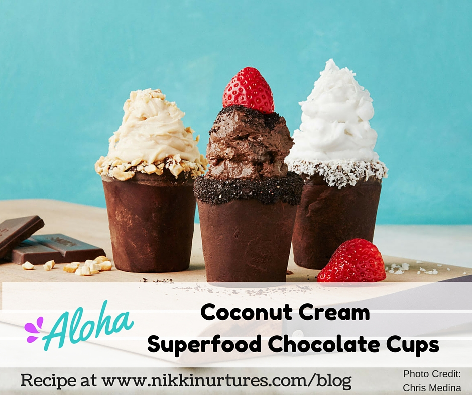 Coconut Cream Superfood – Chocolate Cups Recipe