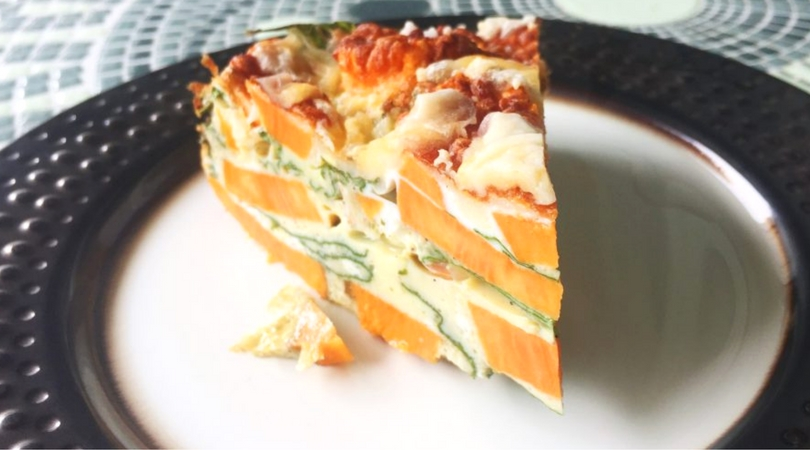 Easy Vegetarian Sweet Potato and Kale Breakfast Frittata