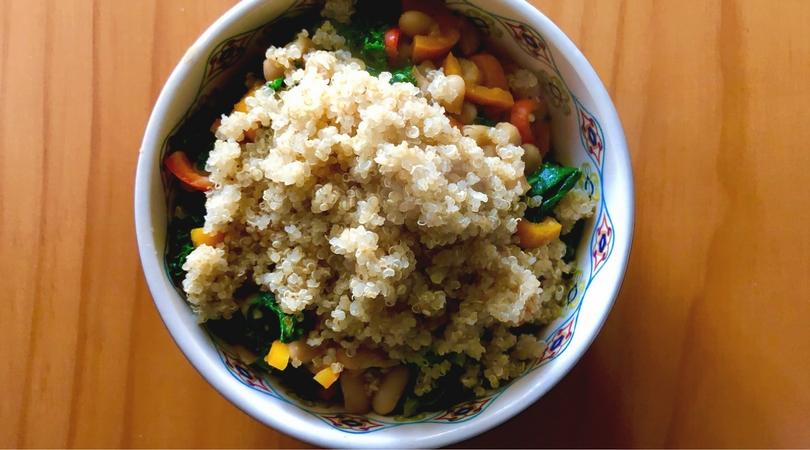 Quick and Simple Vegan Recipe: Teriyaki Kale and Quinoa Bowl
