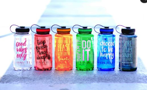 Positive Sayings Jewel Water Bottles (With Hourly Water Reminders) $20 <BR><a href=